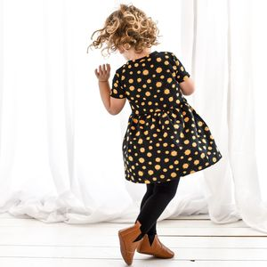 Gold Splat Girls Dress