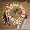 'Make Your Own' Christmas Wreath Kids Activity