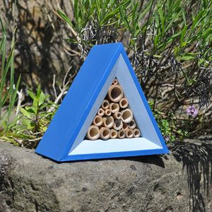 Handcrafted Bee Hotel, Dual Colours - birds & wildlife