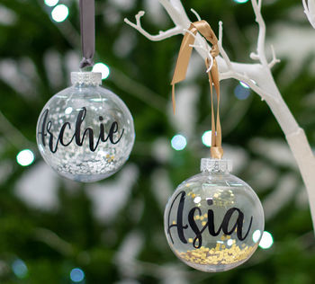 Personalised Glitter Christmas Bauble