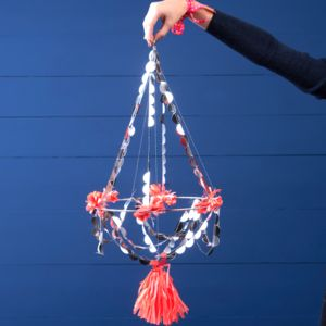 Paper And Tassle Pajaki Christmas Chandelier - ceiling lights