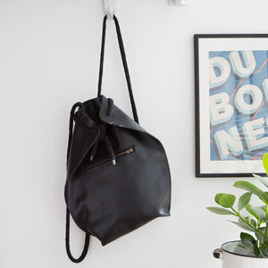 Leather Backpack With Front Zip Pocket - best gifts for her