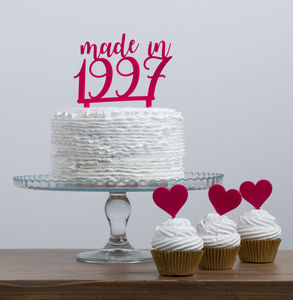 Made In Year Cake Topper Party Set