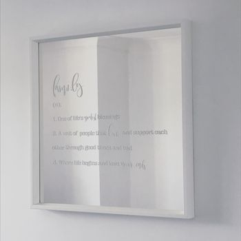 Personalised Definition White Mirror
