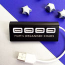 Usb Four Port Hub With Personalised Text
