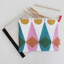 Book Bag In Diamond Design