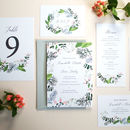 Spring Botanics Wedding Invite Sample