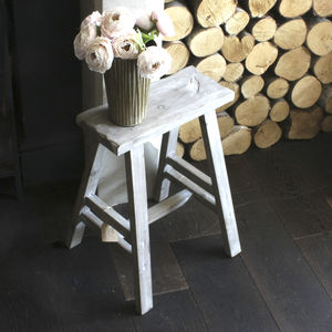 Natural Mango Wood Stool - kitchen