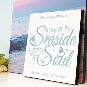 Personalised 'A Day At The Seaside' - family & home