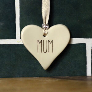 Mum Ceramic Heart