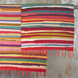 Fair Trade Handloomed Cotton Rag Rugs - baby & child