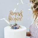 Charming Personalised Couples Wedding Cake Topper