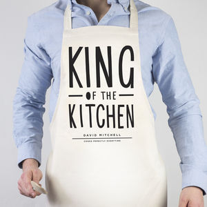 King Of The Kitchen Apron - winter sale