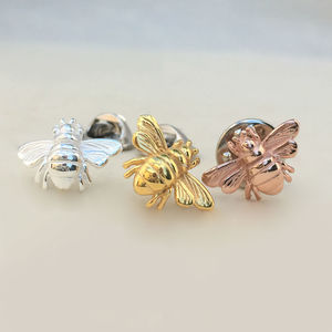 Bee Sterling Silver Pin - pins & brooches