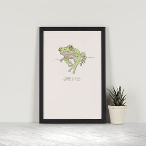 Gimme A Kiss – Treefrog - drawings & illustrations