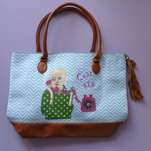 Call Me Day Bag And Free Cosmetic Bag - sale
