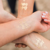 Bride's Besties Hen Party Gold Temporary Tattoos - health & beauty