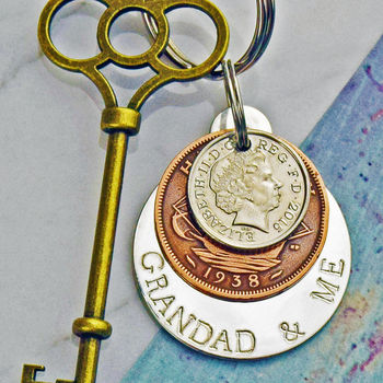 'Grandad And Me' Keyring