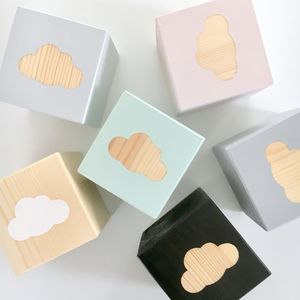 Wooden Shape Play Cubes - baby toys