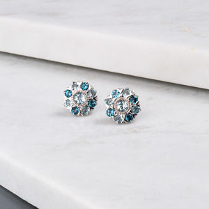 Wanderlust Silver Sky Blue And London Blue Topaz Studs