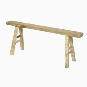 Weathered Elm Bench - outdoor living