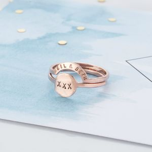 Personalised Eclipse Ring Set - rings