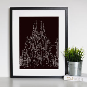 Barcelona Landmark Framed Print