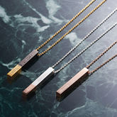 Personalised Bar Necklace - anniversary gifts