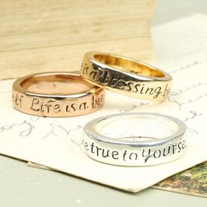 Life Is A Blessing Quote Ring