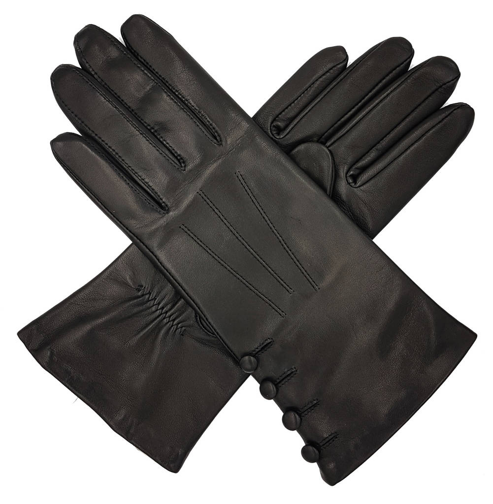 28aa7aa1e kate. women's silk lined button leather gloves by southcombe gloves ...