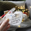 Always In Our Hearts In Memory Feather Bauble