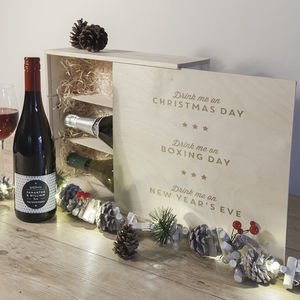 Personalised Christmas Wine Box - personalised