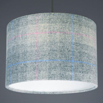Grey Check Harris Tweed Lampshade