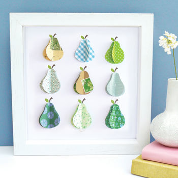 Personalised Paper Pears Art