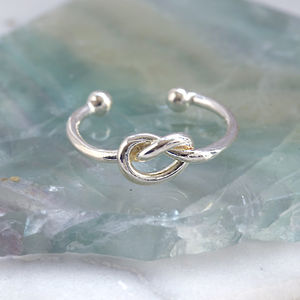 Sterling Silver Knot Ring - rings