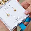 Personalised Birth Star Earrings