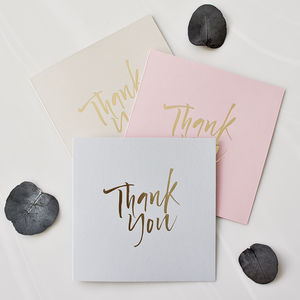 Thank You Cards Pack Of Five