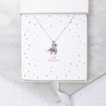 Mini Personalised Silver Lucky Elephant Necklace