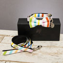 The Thurlesetone Pastel Dog Collar Bow Tie And Lead Set