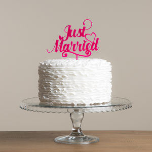 Just Married Wedding Cake Topper Decoration - cake toppers & decorations