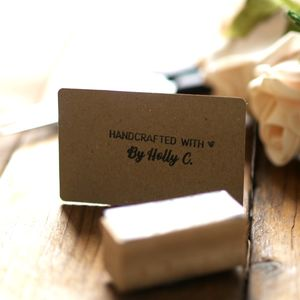 Handcrafted By Personalised Rubber Stamp - diy & craft