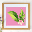 wooden effect framed print