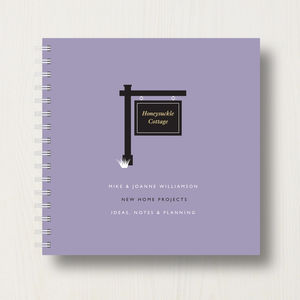 Personalised New House Planner Book