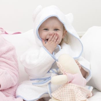 Dotty Trim Baby And Childrens Bathrobes