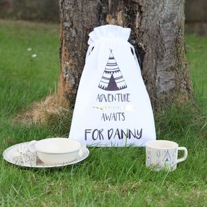 Bear Camp Breakfast Set With Personalised Bag - baby care