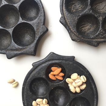 Stone Serving Dish With Compartments