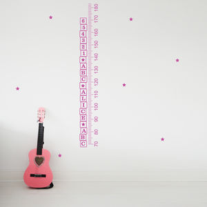 Personalised Abc Height Chart