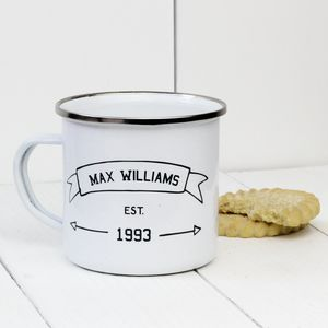 Personalised Name Established Enamel Mug - what's new