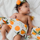 Clementine Print Muslin Swaddle