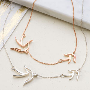 Mother And Child Bird Necklace